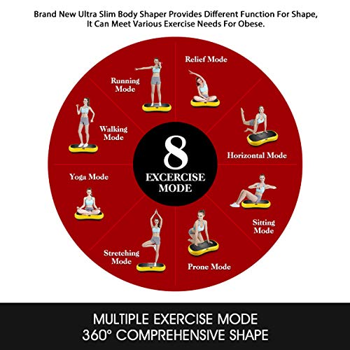 GENKI Fitness Vibration Platform Workout Machine Whole Full Body Shape Exercise Training Power Plate (Yellow) by GENKI (Image #3)