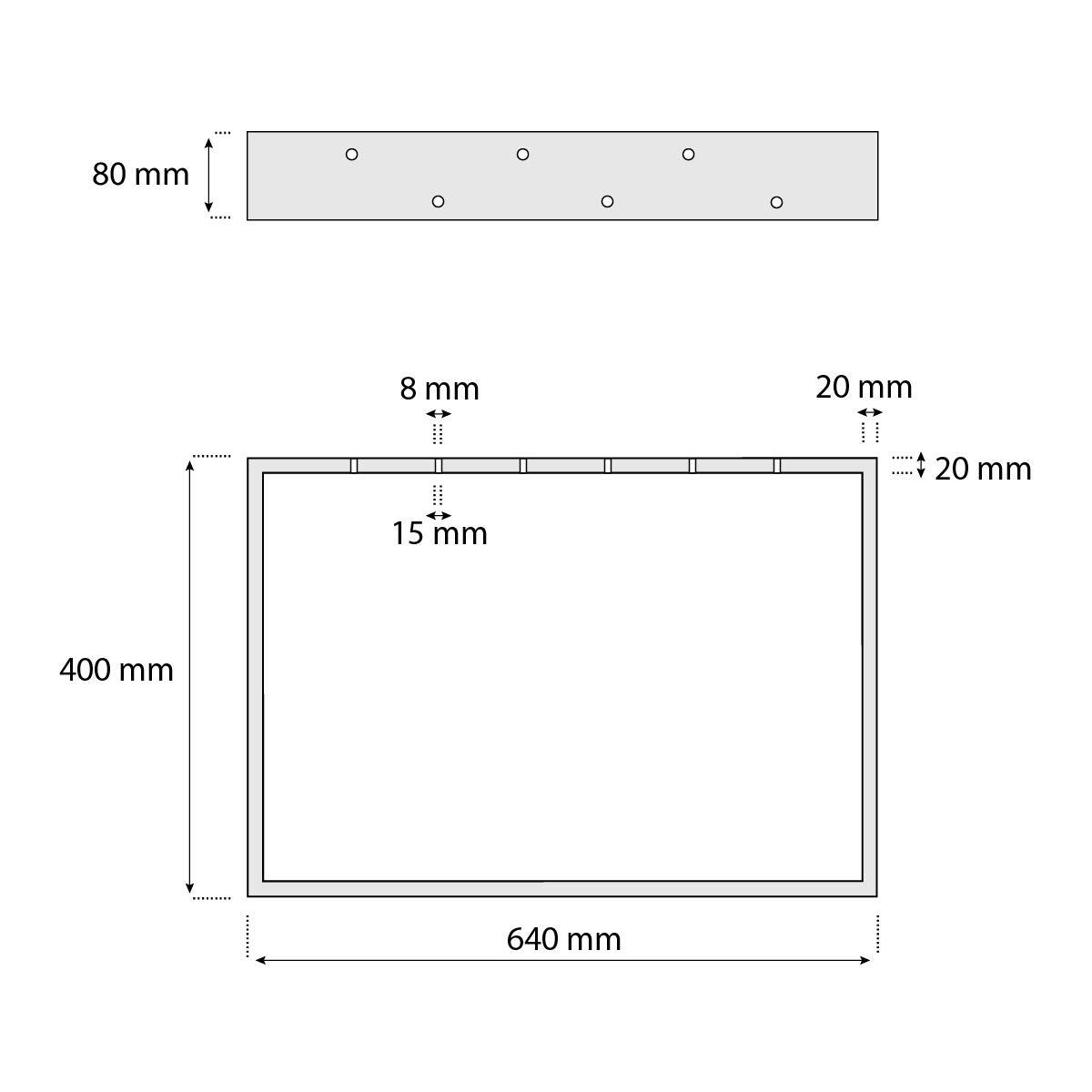 HOLZBRINK 1x Pied de Table en Profil/és dAcier 80x20 mm HLT-01-C-FF-0000 Cadre 80x72 cm Acier Brut