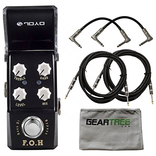 Joyo JF-331 F.O.H. Bass DI/EQ Pedal w/ Cloth and 4 Cables by Joyo Audio
