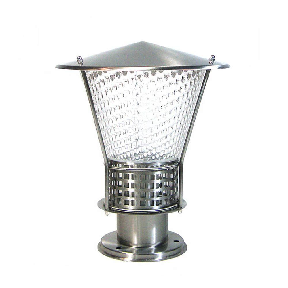IP55 Impermeabile in acciaio inossidabile Luci LED Villa Landscape Garden Chapiter Illuminazione Acrilico Esterno Post Luce lanterna pilastro E27 (Dimensione   A)