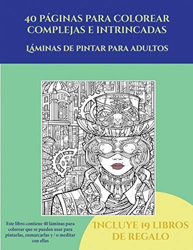 Libro : Láminas De Pintar Para Adultos (40 Páginas Para...