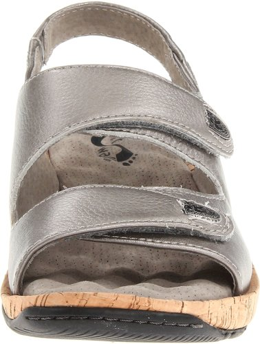 Bolivia Pewter SoftWalk Wedge Sandal Women's RxS01T4q