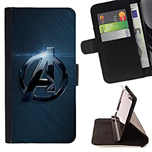 For Samsung Galaxy S6 A Superhero Team Leather Foilo Wallet Cover Case with Magnetic Closure