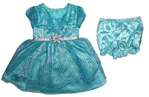 Frozen Dress For Babies (Jona Michelle Baby Girl's 2 Piece Dress With Diaper Cover (6 Month, Frozen Blue))