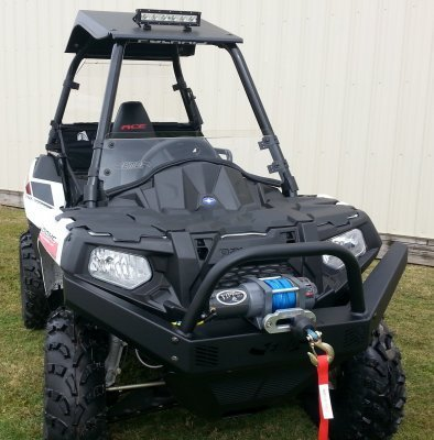Polaris Sportsman ACE Front Brush Guard with Winch Mount by EMP 12487