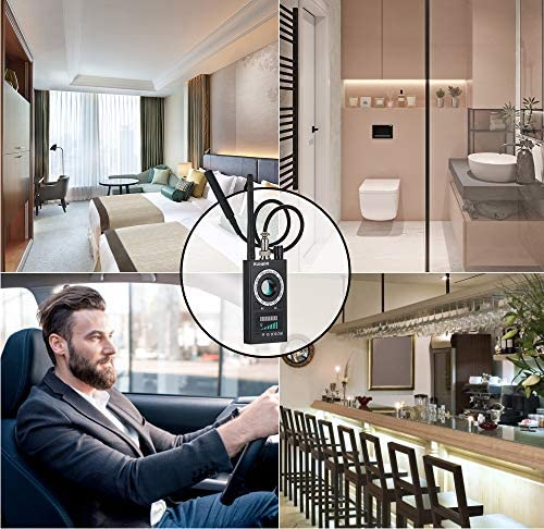 kunkin Anti Spy Detector Listening Bug Detector, Hidden Camera Detector, Wireless Camera Detector & Spy Camera Detector for Privacy Protection