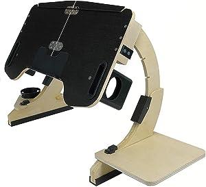 LIUBUO Multifunctional Lazy Desk Portable Stand Notebook Computer Desk Bed Wooden Folding Adjustable Angle for Home (Color : Black Color)