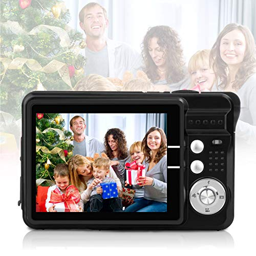 HD Mini Digital Video Camera,Point and Shoot Digital Video Cameras(Black)–Birthday&Christmas Present