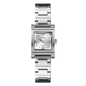 Relojes Pulsera Esfera Pequeña Cuadrada Cuarzo Relojes Mujer Chica ...