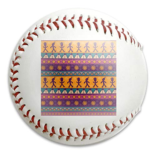 Wontun Colorful Aztec Seamless Pattern Personalized Low Impact Safety Softball Baseball Training for Indoor and Outdoor Practice Competition (Aztec Pitching Machine)
