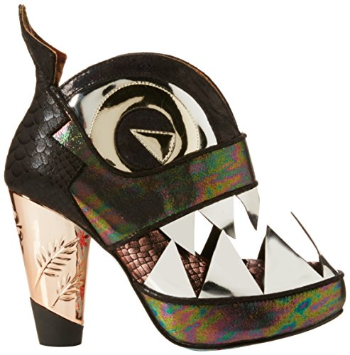 Irregular Choice I Dont Bite - Tacones Mujer Gris - Grey (Pewter)