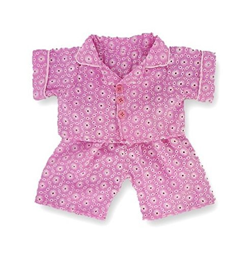 Pink PJ's teddy Bear clothes fit build a bear Teddies by Build your Bears Wardrobe