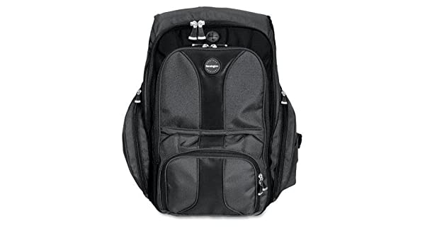 15-3//4-Inch x9-Inch x19-1//2-Inch Black Kensington 62238 Contour Computer Backpack