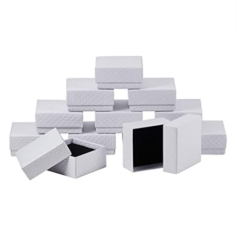 NBEADS 12Pcs Cajas de cartón Caja Caja de joyería Cuadrada ...