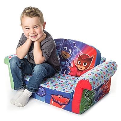 Marshmallow Furniture - Children's 2 in 1 Flip Open Foam Sofa, PJ Masks Flip Open Sofa