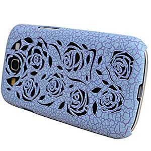 NEW Rose Hollow Design Ultralighte PC Case for Samsung Galaxy S3 I9300 (Assorted Colors) , Black