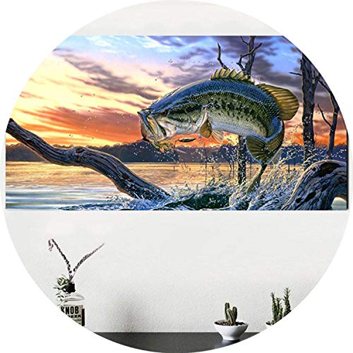 three thousand Amazing Fish Canvas Paintings Vertical Rectangle Wall Art Posters Prints Nordic Pictures for Living Room Home Decor No Frame,50x100cm no - Booster Superman Pack