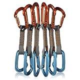 Fusion Climb 6-Pack 11cm Quickdraw Set with Contigua Orange Straight Gate Carabiner/Contigua Blue Straight Gate Carabiner