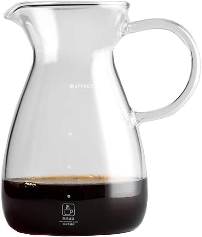 Servidor de café de Vidrio Claro de 500 ml, Jarra de café de ...