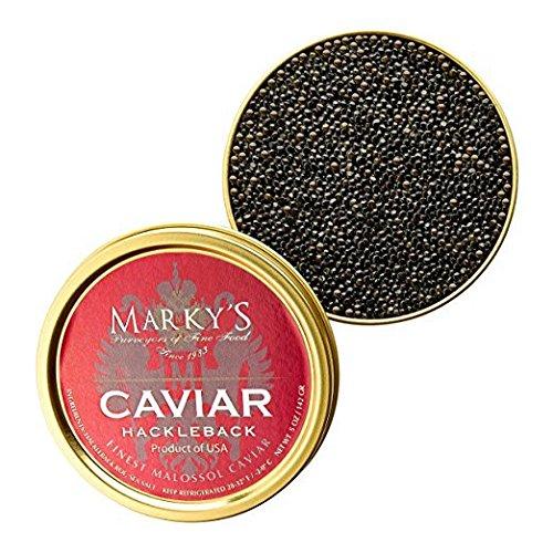Marky's Hackleback Caviar Black American Sturgeon - 5 oz ()
