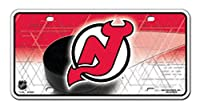New Jersey Devils Puck Design PV8301 Metal Aluminum License Plate Tag NHL Hockey
