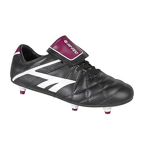Hi-Tech League Pro Series - Botines de fútbol/rugby con tachuelas removibles para