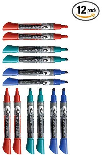 Quartet Dry Erase Markers, Chisel Tip, BOLD COLOR, EnduraGlide Whiteboard / White Board Markers, Assorted Primary Colors, 12-Pack (5001-SECR) Enduraglide Dry Erase Marker Chisel
