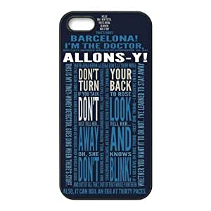 iPhone 5S Protective Case - Dr.Who Quotes Hardshell Carrying Case Cover for iPhone 5 / 5S Designed by HnW Accessories