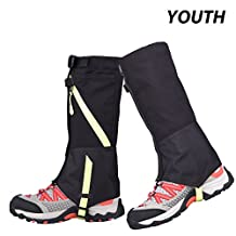 AMYIPO Unisex Snow Leg Gaiter, Hiking Boots Gaiters Waterproof Gaiters