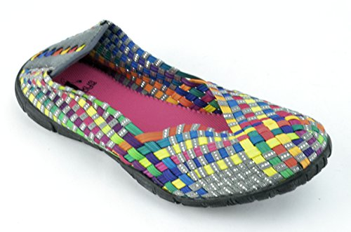 Corkys Sidewalk Women's Bright Multi Ballet Flats US9 (Cc Resort Shoes)