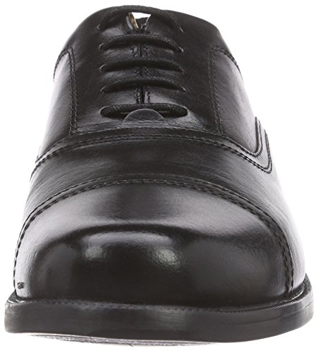 Clarks Beeston Cap Herren Brogue Schnürhalbschuhe Schwarz (Black Leather)