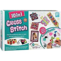 VikriDa 10 in 1 Cross Stitch Art and Craft kit for Girls