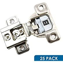 "Salice 106 Degree Silentia E-Centhree 1/2"" Overlay Screw On Soft Close Cabinet Hinge With 3 Cam Adjustment CUP37D9R (25 Pack)"