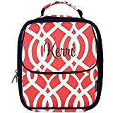 Personalized Coral Vine Reusable Mens and Womens Insulated Lunch Box