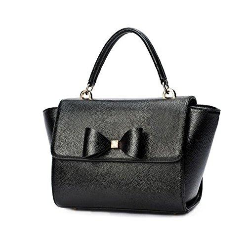 [VVeda Summer New Handbag Shoulder Bag Messenger Packet Smiley Bat Wings(Black)] (Dance Costumes Australia Suppliers)
