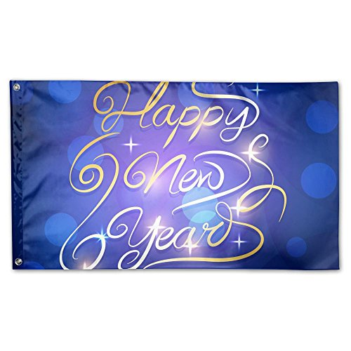 New Year Deluxe Flag, 3 X 5', Multicolor.