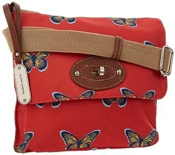 Franco Sarto Devon FS1253-BUTRD Cross Body,Red Butterflies,One Size