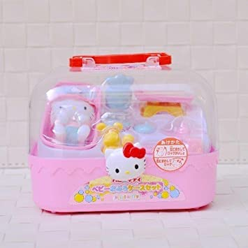 c634cc59c Hello Kitty Baby Take a Bath Set Playset Miniature Toy Preschool Girl Role  Play by Hello Kitty: Amazon.co.uk: Toys & Games