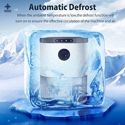 UGHEY Deshumidificateurs d'air, 2.3L,Double Semi-conducteur Déshumidificateur, Dégivrage Automatique, Réglage de l'heure, 7 couleurs LED, Capteur d'humidité, Arrêt automatique, pour la Chambre, Bureau