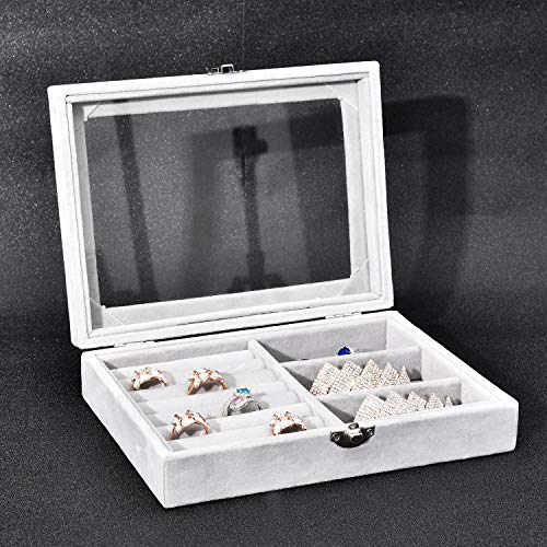 NXhome Jewelry Box for Women with 4 Drawers,Cosmetic Display Cases for Girl,Acrylic Jewellery Storage & Organizationr for Earring Bangle Bracelet Necklace and Rings,Jewelry Trays ()