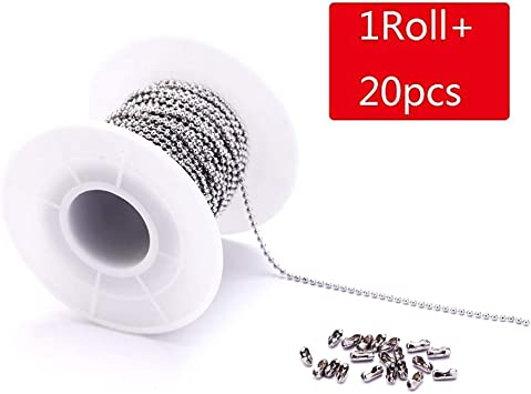 1.5//2mm Width Stainless Steel Bead Chain Necklaces DIY Jewelry Findings