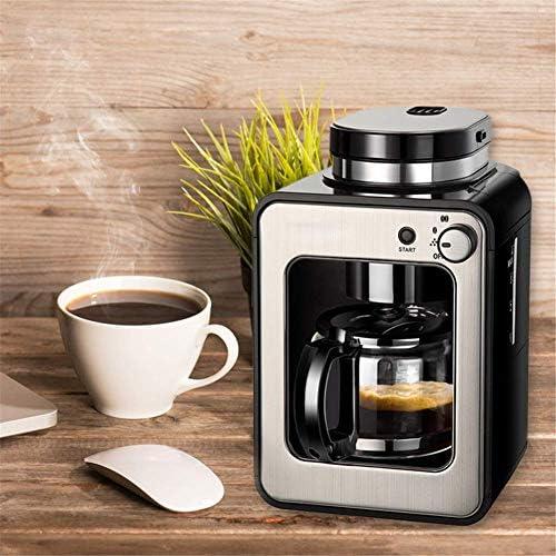 Qinmo Iced Machine à café, Machine à café intégré, Machine à café Unique Cup Smart Home Machine Automatique Mini thé fraîchement Grinded Commercial Machine à café