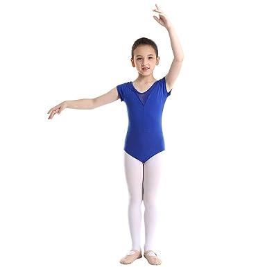 ranrann Maillot de Danza Ballet Charol para Ni/ña Traje Patinaje Art/ístico Lentejuelas Manga con Volantes Leotardo de Gimnasia R/ítmica Disfraz Fiesta