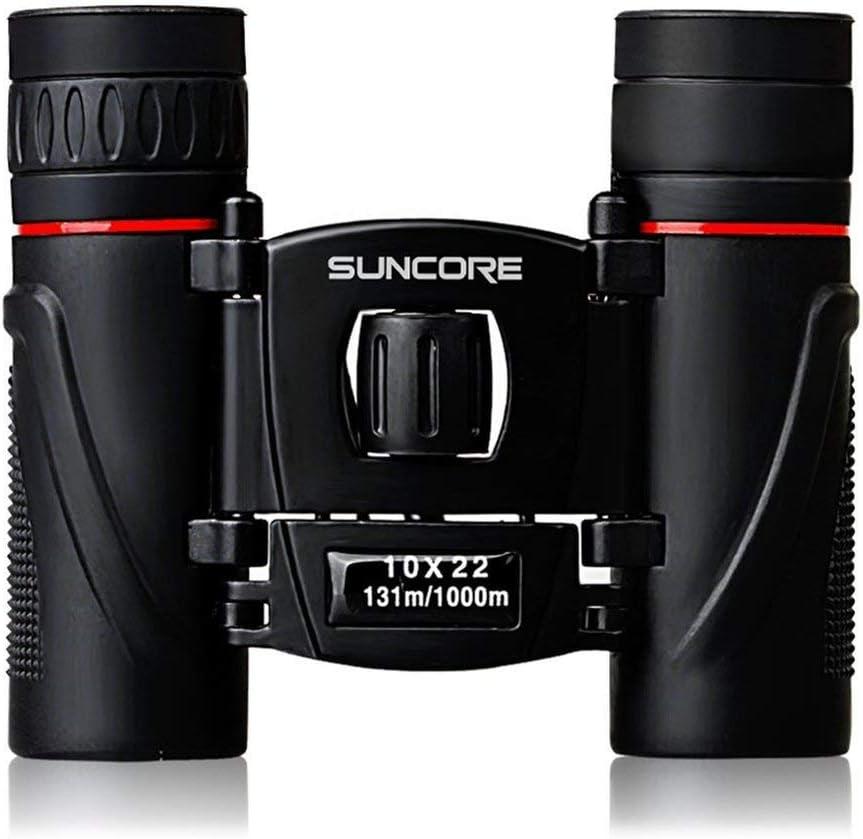 SUNCORE 10 X 22 HD Binoculares para Acampar al Aire Libre Zoom Día de visión Nocturna Telescopio Ocular