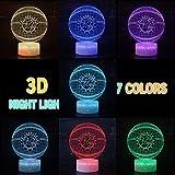 Baksetball 3D Optical Illusion Smart 7 Colors Night