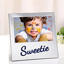 Metal table picture frame Creative children couple photo frame B 10.2x15.3cm(4x6inch)