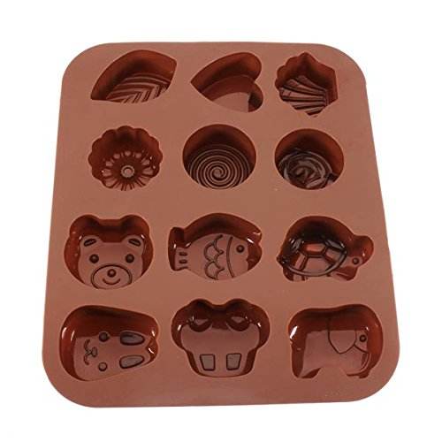 Animals Heart Shape Silicone Baking Mold Chocolate Fondant Cake Mould