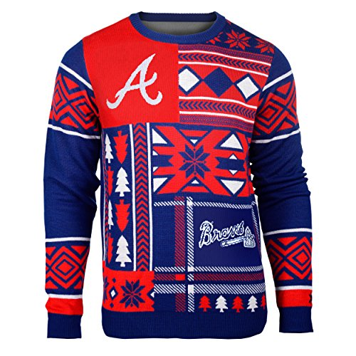 Offical MLB Atlanta Braves Patches Ugly Sweater