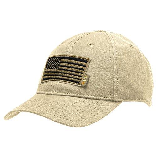 - Gadsden and Culpeper 5.11 Flag Bearer Cap Bundle - Khaki (USA Patch + Hat)