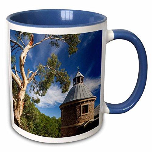 3dRose Danita Delimont - Australia - Australia, Barossa Valley, Mount Pleasant, Winery, building exterior - 15oz Two-Tone Blue Mug (mug_226310_11)